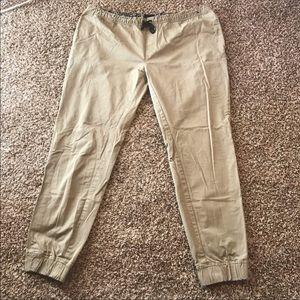 Men's khaki xxl jogging drawstring pants